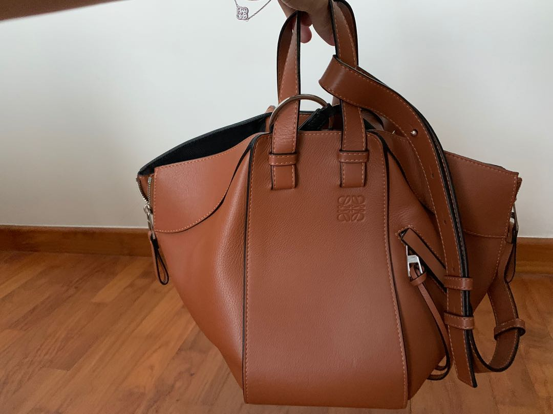 leather and suede tote bag by loewe