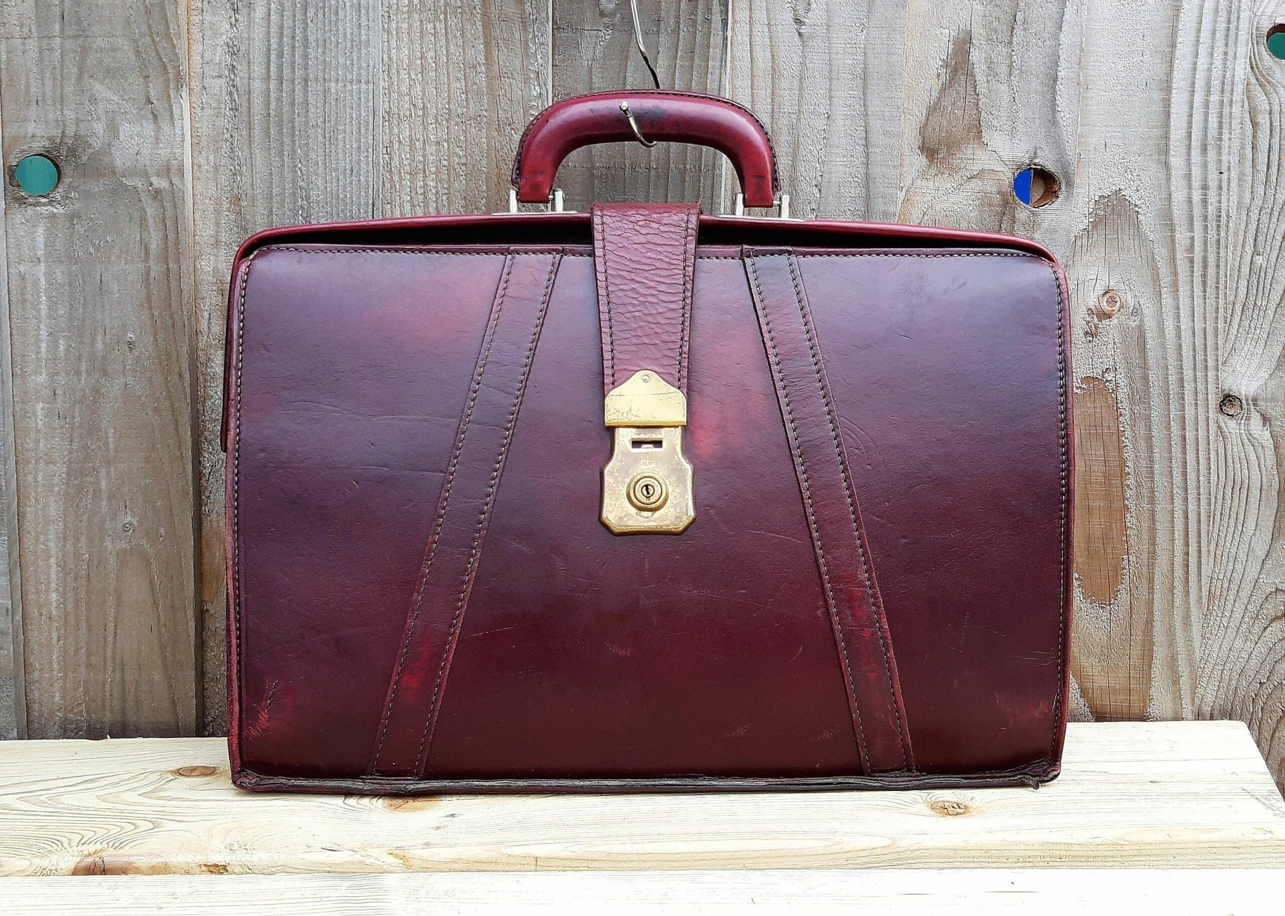 leather attache briefcases