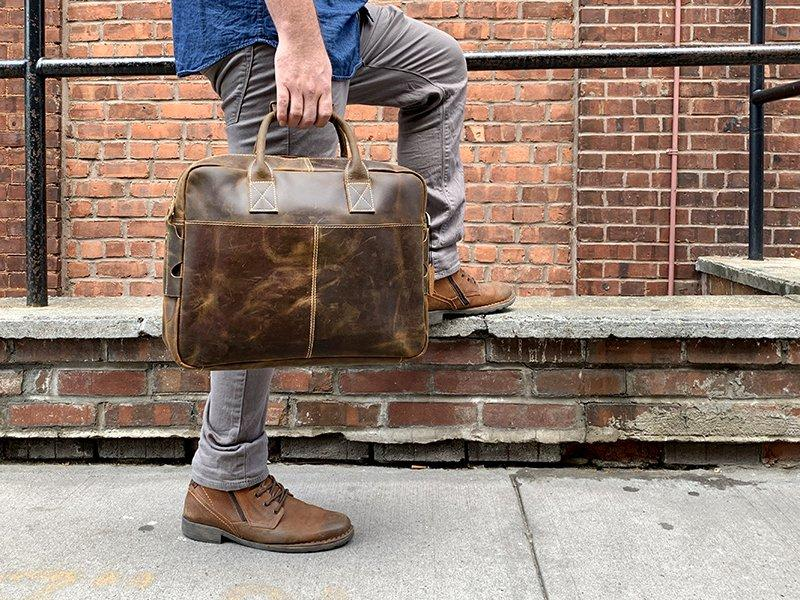 the brief leather laptop bag